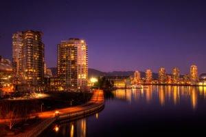 Vancouver, BC At Night With Water | Ng Sidhu Law